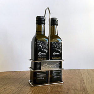 Olive bottle display