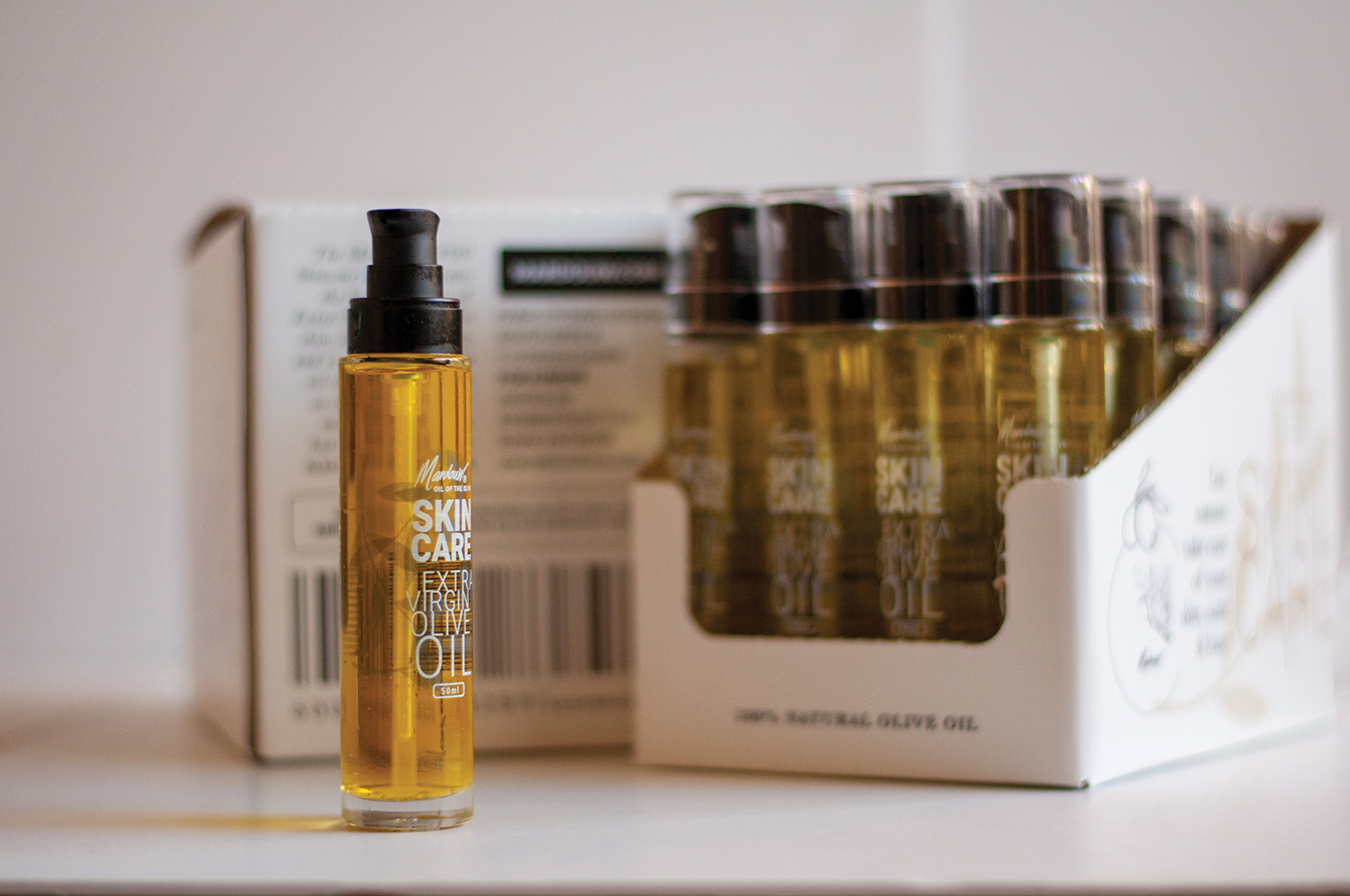 Cosmetic skincare olive oil