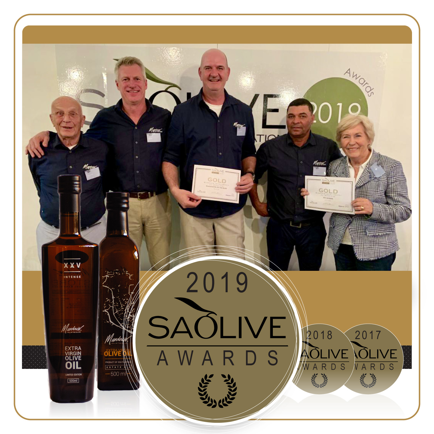 2019 SA Olive Awards Gold