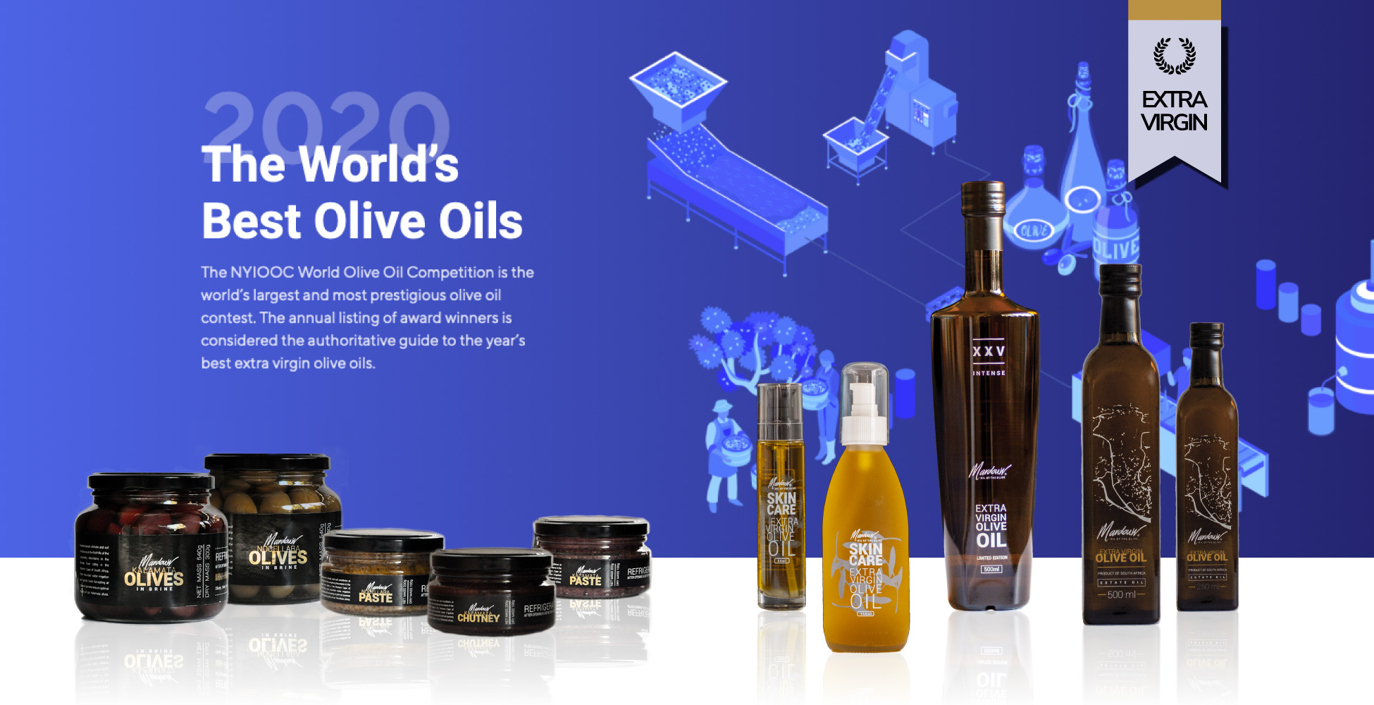South Africa's Number 1 Extra Virgin Olive Oil